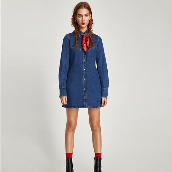 united kingdom buying new sells Zara Denim Dress NWT